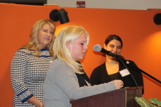 My Place Teen Center intern, Lexi, shares her story. Photo by Jamie Gagne.
