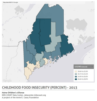 Child Food Insecurity - Percent 2013