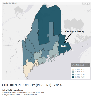Childre in Poverty (Washington County) - 2014